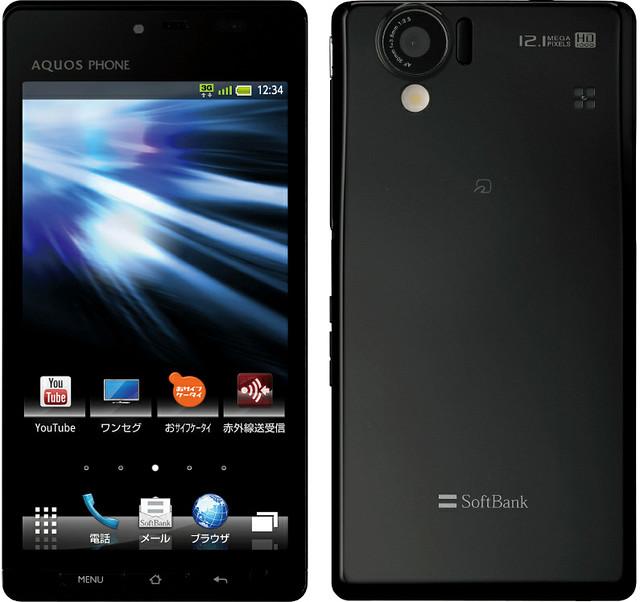 AQUOS PHONE 102SH II 実物大の製品画像