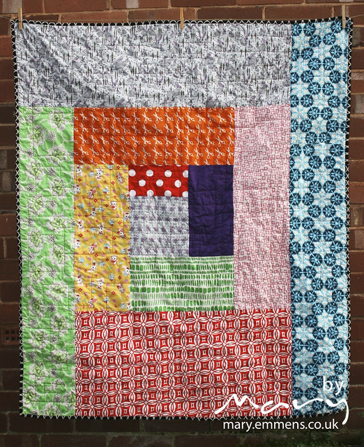 Scrappy Log Cabin Quilt - back