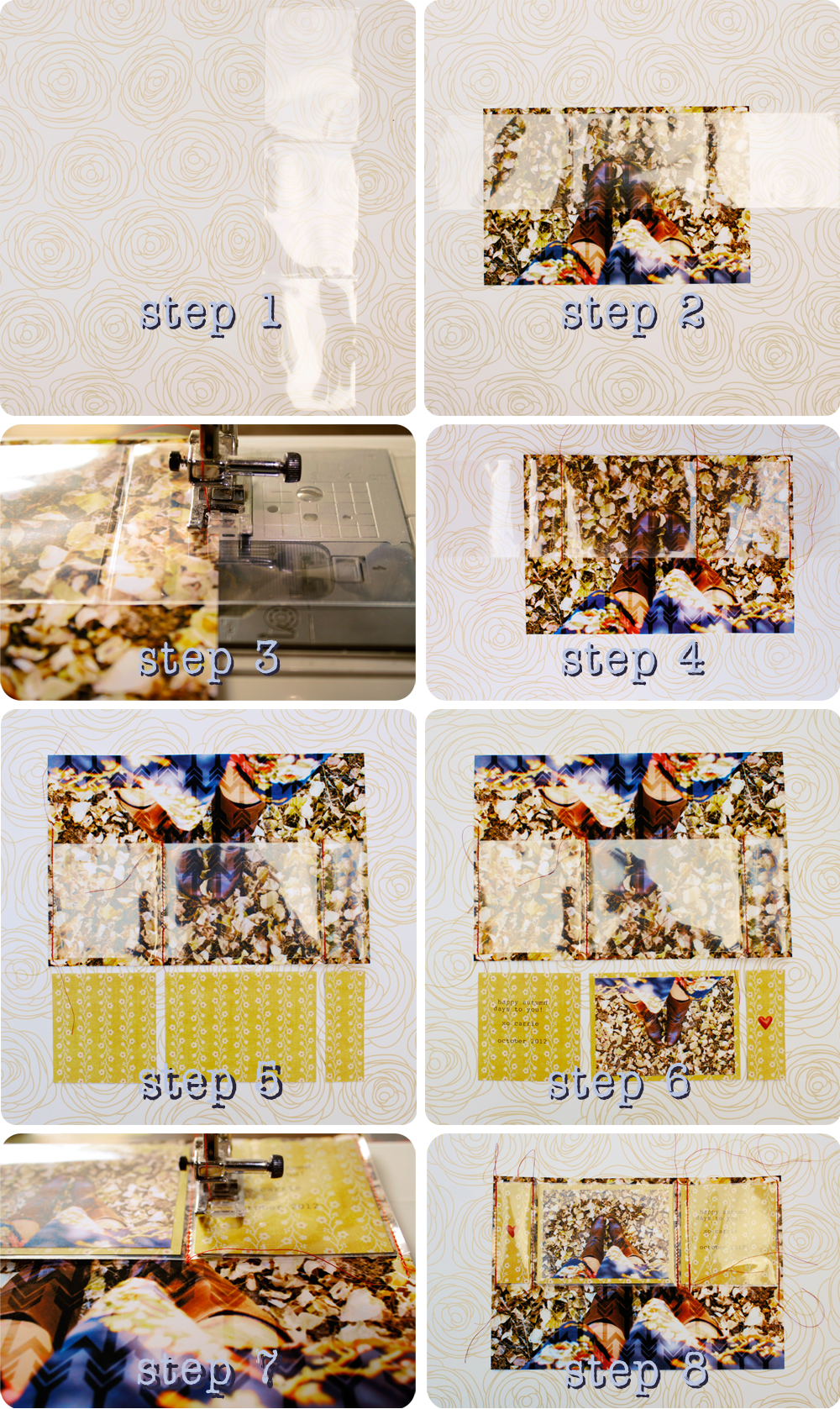 {autumn card} steps