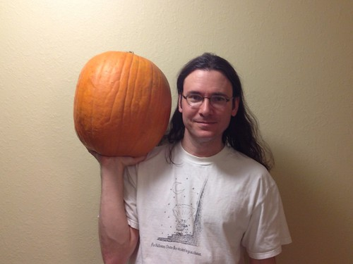 Head-shaped pumpkin