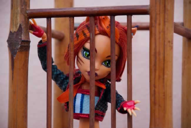 Toralei Stripes enjaulada por Fran y su gemelo || Toralei Stripes caged by Fran and his twin