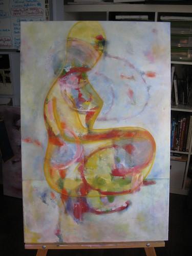 Woman Sitting (in progress)