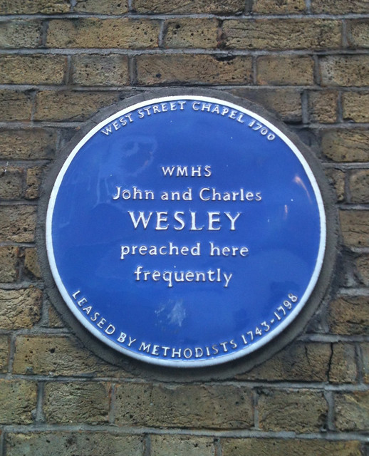 Photo of John Wesley and Charles Wesley blue plaque