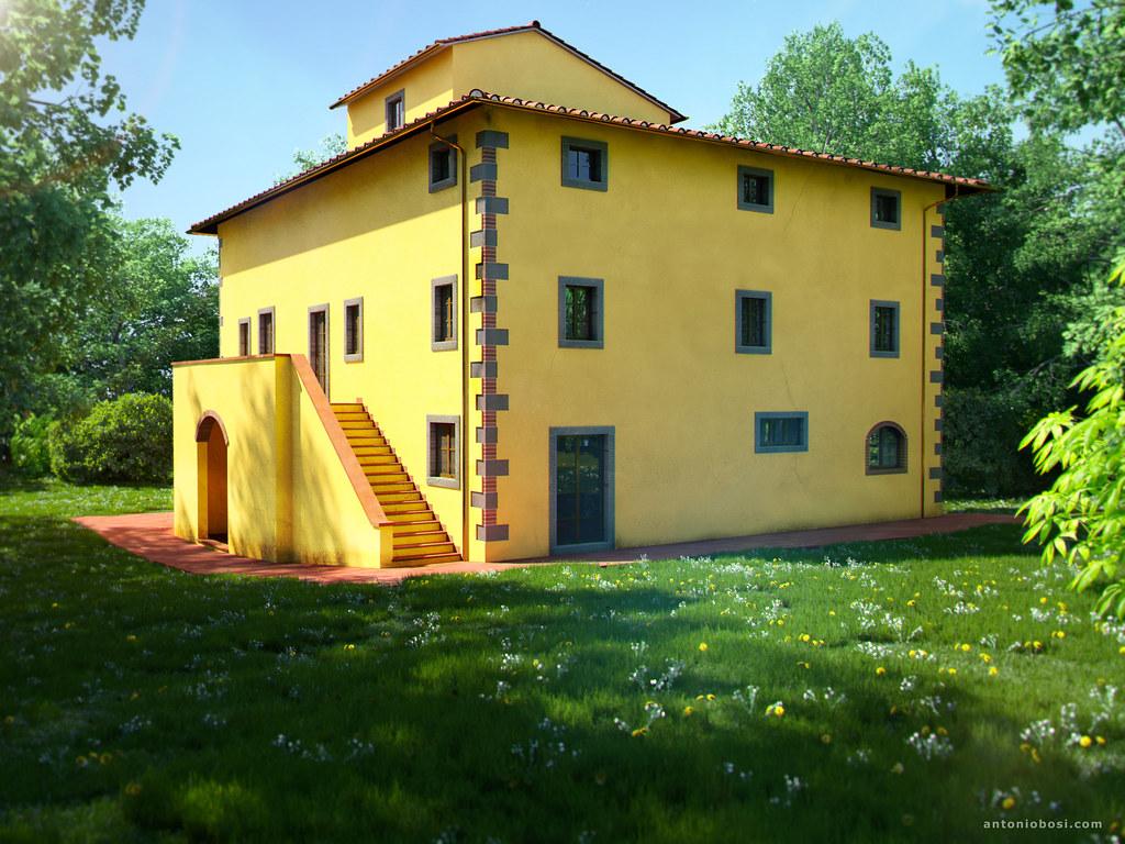 Leopoldina villa 3d exterior render | 3D Arezzo