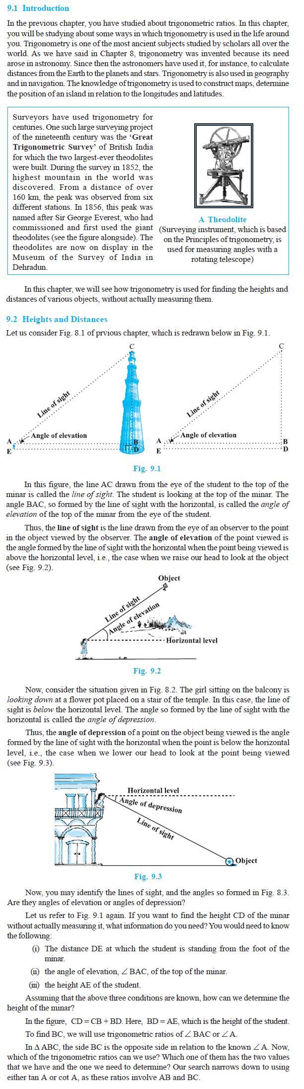 NCERT Class X Maths: Chapter 9 – Some Applications of Trigonometry