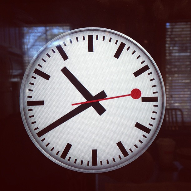 Wondering when the iPhone Clock App will have the Swiss Railway Clock added.