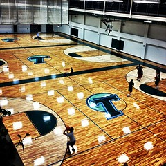 newly surfaced basketball courts at Reily #onlyattulane