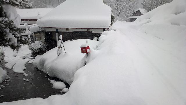 雪国の民家