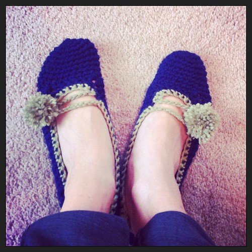 Still perfecting the Pom pom slippers