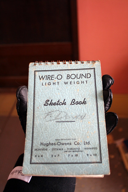 Wire-O Bound Light Weight Sketch Book - F. l)()WN