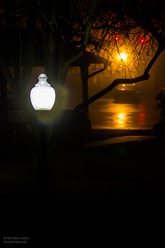 A Lamp Post in the Night