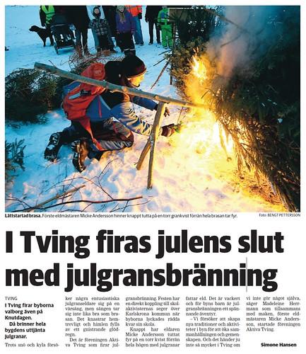 2013-01-14 BLT, Artikel - Julgransbål artikel