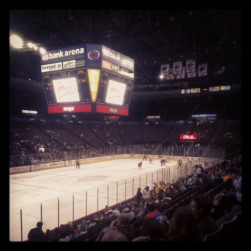 @USBankArena for tonight's @CincyCylones game #GoClones!