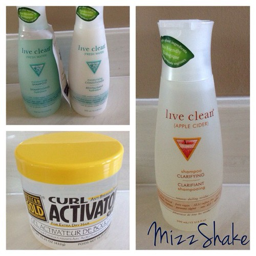 New hair goodies #newgoodies #liveclean #curlactivator #shorthairdontcare #drugstore #instahaul