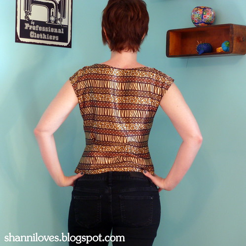 Gertie's portrait blouse