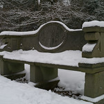 Commemorative stone bench