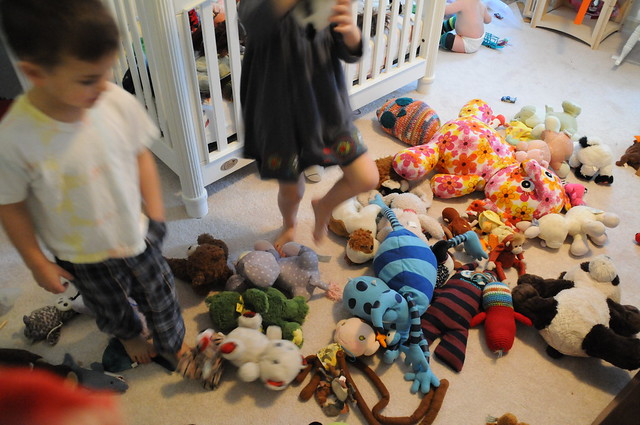 the bed/play room mess