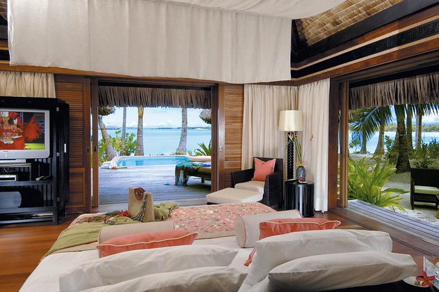 The St. Regis Bora Bora Resort—Villa Bedroom