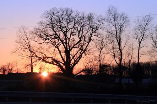 sunset kentucky takenfromthecar takenfromcar albanykentucky kentucky2013
