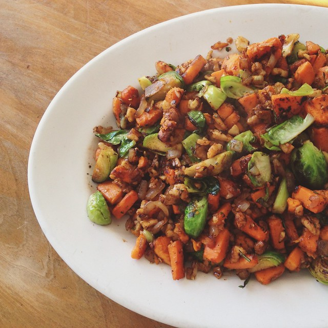 sweet potato hash recipe // bexadiary.com