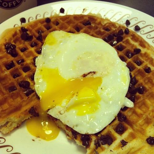 Waffle House chocolate chip waffle