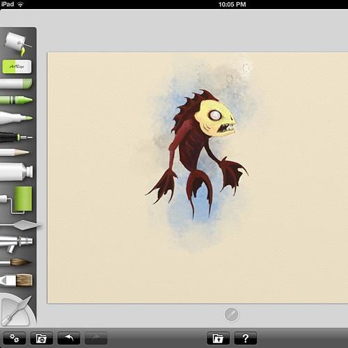 zombie fish in progress by KevinBee