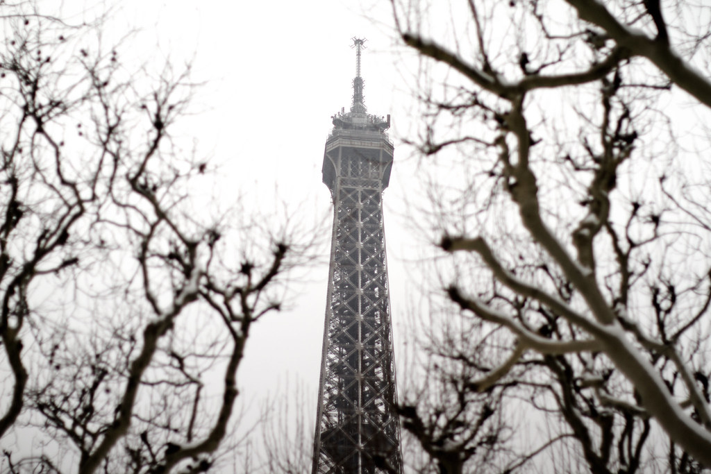 Eiffel Tower in the winter