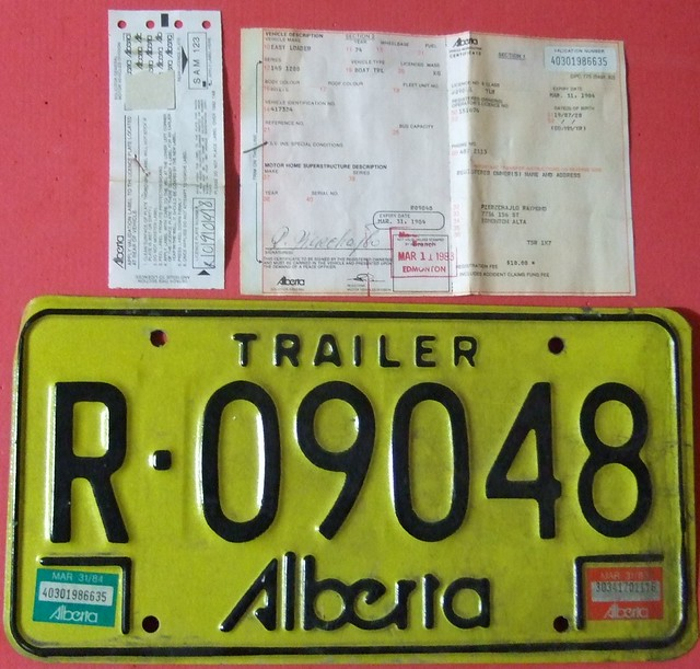 how to get a new registration plate