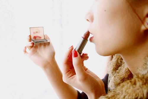 Burberry brick red lipstick