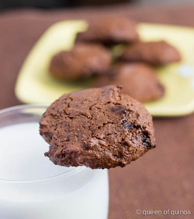 Chocolate Quinoa Brownie Cookies via Queen of Quinoa.jpg