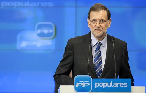 Mariano Rajoy dando explicaciones por el escándalo