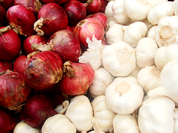 Onions and Garlic at Divisoria