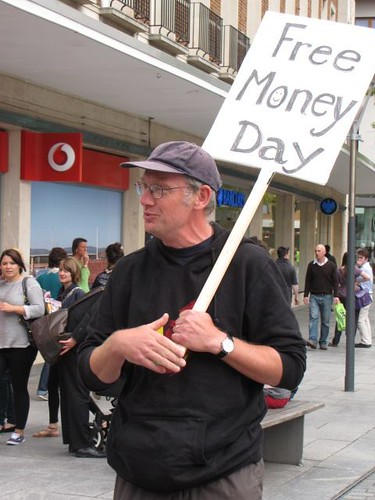 Ghee's Free Money Day, Exeter, Devon, UK