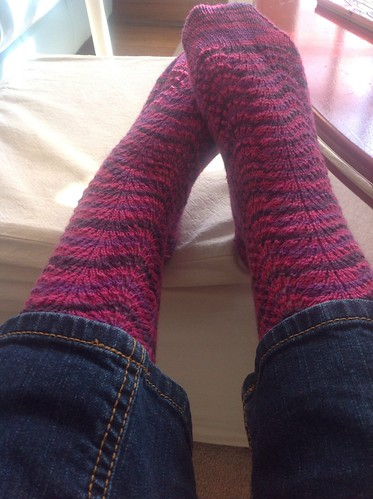 Cautionary tale socks by gradschoolknitter