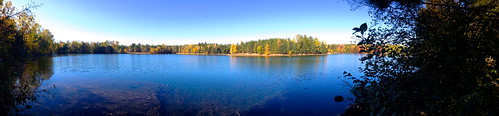 blue red sky orange lake fall water colors yellow forest golden iphone4s