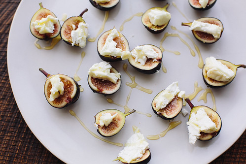little figs with goat's cheese and honey