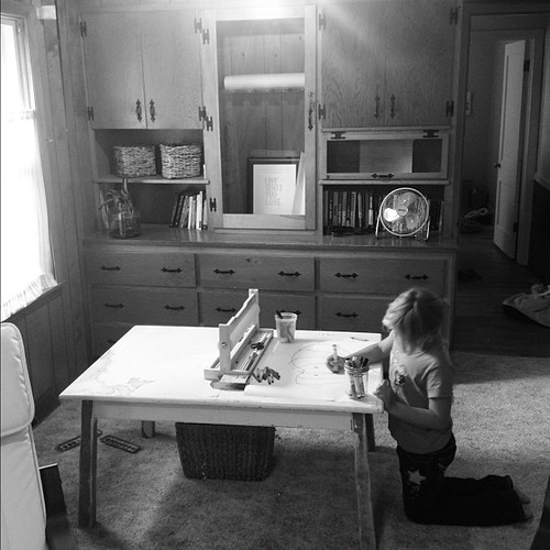 Art space. She colors in my heart.