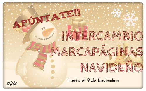Intercambio de marcapaginas navideño