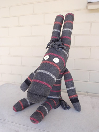 Delilah the Sock Donkey, front view