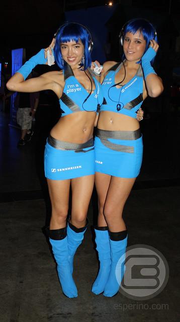 EB Expo 2012 Sennheiser Booth Babes