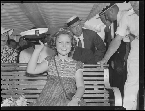 Shirley Temple visits Boston