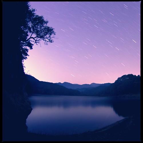 Stars and lake