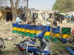 The security forces barricade institutions and police formations to prevent further attacks by Boko Haram. Credit: Ahmed Usman/IPS