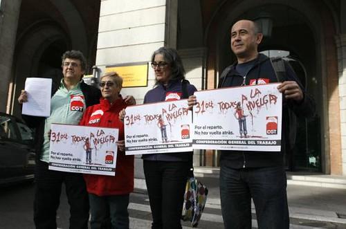 Registre a Madrid Vaga General 31 octubre 2012