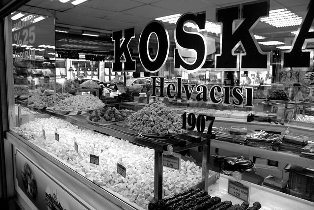 Turkish delight in an Istanbul shopwindow