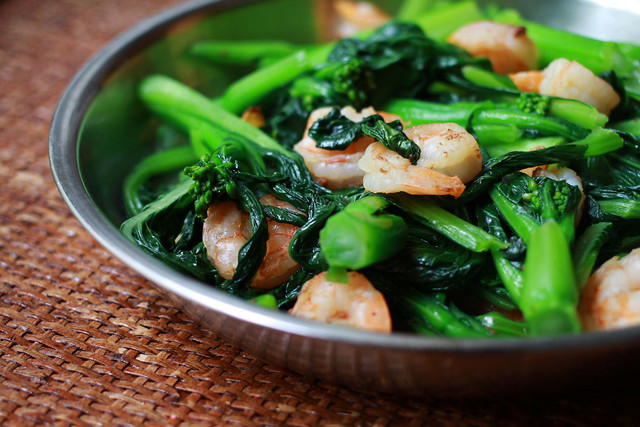 Simple Choy Sum Shrimp Stir Fry