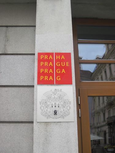 Praha Sign
