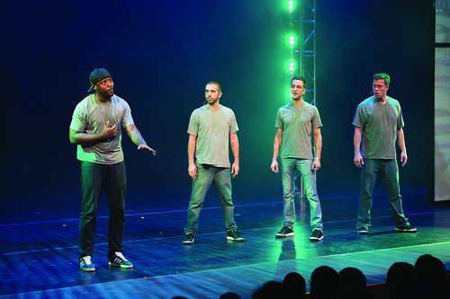 The Q Brothers perform Othello: The Remix during the Harman Center for the Arts Annual Gala. Photo by Kevin Allen.