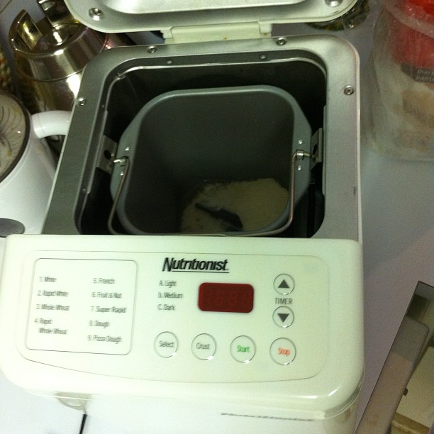 Bread machine - whoo-hoo, looka that bubblin' yeast!