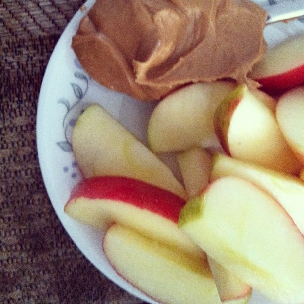 Honey Crisp and PB. I can't get enough! #fruit #food #snack